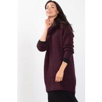 EspritZachte bouclé coltrui met wol Bordeaux Red for Women