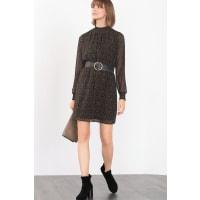 EspritFijne jurk met gesmokte details Black for Women