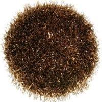 Etol DesignMetallic small rug cacao