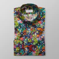 EtonBlå djungelmönstrad skjorta