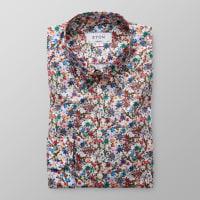 EtonFloral Print Poplin Shirt