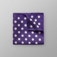 EtonPurple Dotted Linen & Silk Pocket Square