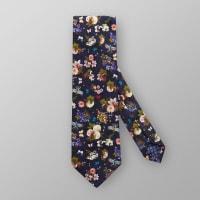 EtonNavy Floral Cotton & Silk Tie