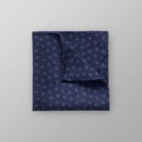 EtonNavy Floral Wool Pocket Square