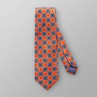EtonOrange Floral Silk Tie