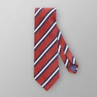 EtonOrange Striped Wool & Silk Tie