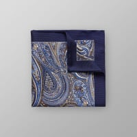 EtonPaisley Cotton & Silk Pocket Square
