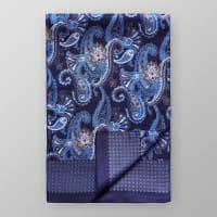 EtonPaisley Print Silk Scarf