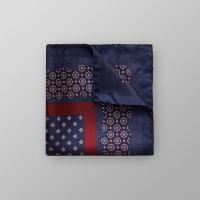 EtonRed & Navy Floral Pocket Square