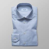 EtonVit geometrisk skjorta