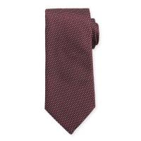EtonWoven Two-Tone Textured Neat Silk Tie, Burgundy/Navy