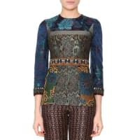 EtroBead-Trimmed Floral Tunic Top