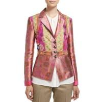 EtroFitted Button-Front Brocade Jacket, Purple