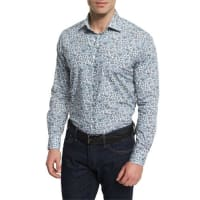 EtroMulti Floral-Print Long-Sleeve Sport Shirt, Multicolored