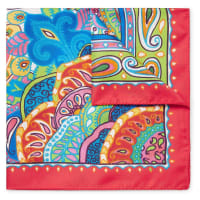 EtroPaisley-print Silk-twill Pocket Square - Red