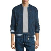 EtroTonal Paisley-Print Zip Track Jacket, Navy
