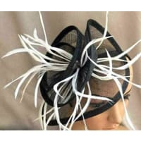 FabFH2318 - Large Twirl Mesh Fascinator on Head Band by FAB