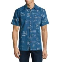 FahertyVentura Bendback Short-Sleeve Shirt, Blue