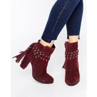 FaithBethany - Ankle-Boots mit Absatz und Bindeband - Rot