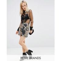 Fashion Union PetiteJacquard Mini Skirt - Multi