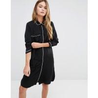 Fashion UnionPj Shirt Dress - Black