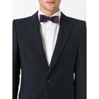 Fefēpeppers pattern bow tie, Adult Unisex, Blue