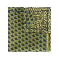 Fefēprinted pocket square, Adult Unisex, Green