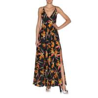 FendiBird of Paradise Crisscross-Back Ruffled Dress, Multi Colors