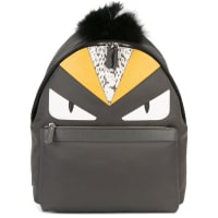 FendiLeather And Fur bag Bugs Backpack