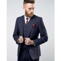 FéraudHeritage Premium Wool Birdseye Suit Jacket - Navy