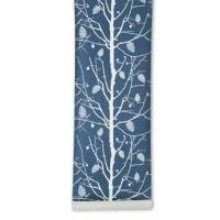Ferm LivingFamily tree tapet blå