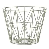 Ferm LivingWire Basket - Dusty Green
