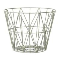 Ferm LivingWire basket dusty green medium 50x40 cm