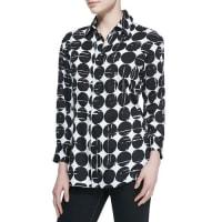 FinleyPoplin Polka-Dot Print Dress Shirt