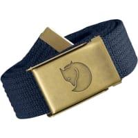 FjällrävenCanvas Brass 3 cm Gürtel blau