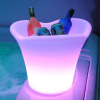 Fosani LightingLED Ice Bucket Furniture Outdoor Weatherproof in16 Colours with Remote