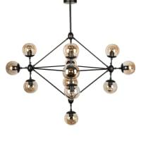 Fosani LightingRoll & Hill Jason Miller Modo Chandelier Light Black in 135cm
