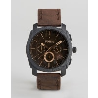 FossilBrown Leather Watch & Bracelet Gift Set - Brown