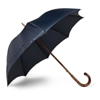 Francesco MagliaLord Maple Wood-handle Twill Umbrella - Navy