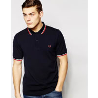 Fred PerrySlim Fit Twin Tipped Polo Shirt - Blue