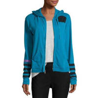 FreecitySuper Woman Zip-Front Hoodie, Blue
