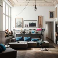 freistil Rolf Benzfreistil 184 Lounge-Sofa mit Longchair links Schurwolle khakigrau