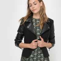 French ConnectionBiker-Blouson Alana Mix LS Biker Jacket, Reissverschluss
