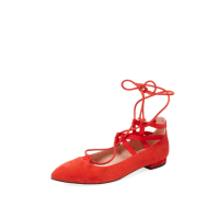 French Sole FS/NYTruffle Suede Lace-Up Flat