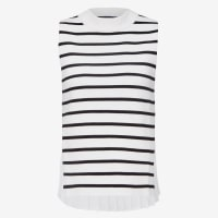 frenchconnectionSTRIPE SPLICED PLEAT BACK KNIT - 3585 - XS