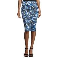 FuzziFloral-Print Midi Pencil Skirt