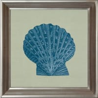G&Cgerahmter Kunstdruck »Chambray Shell Motiv 2«, 40/40 cm