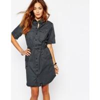 G-StarCargo Belted Shirt Dress - Black