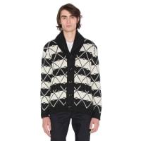G-StarCore Jacquard Shawl Cardigan in Black & White