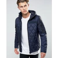 G-StarHooded Quilted jacket - Blue